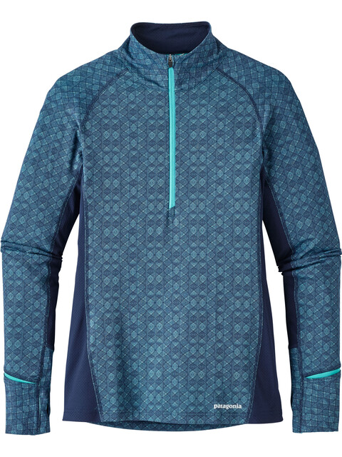 Patagonia All Weather Midlayer Dames blauw